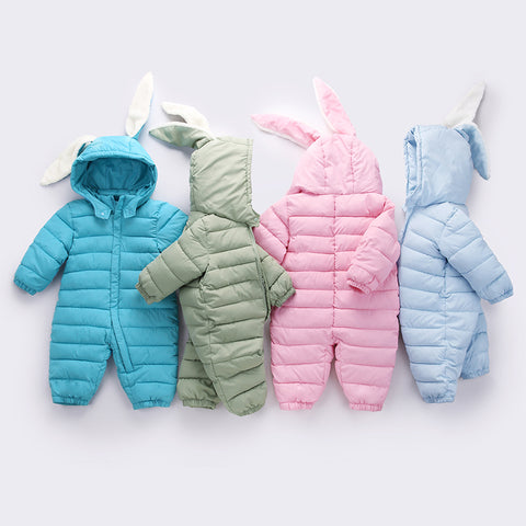 New Baby Winter Romper Cotton Padded Thick Newborn Baby Girl boy Warm Jumpsuit Autumn Fashion baby's wear Kid Climb Clothes