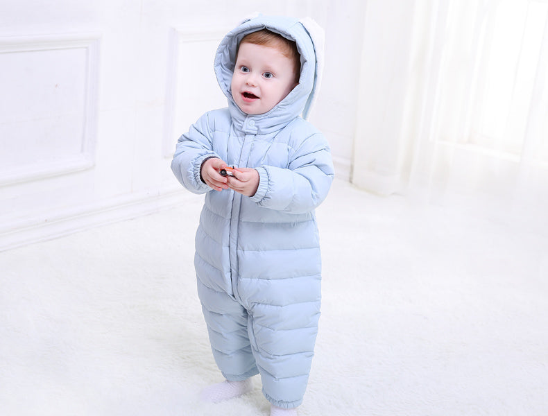d81b3bf22 New Baby Winter Romper Cotton Padded Thick Newborn Baby Girl boy ...