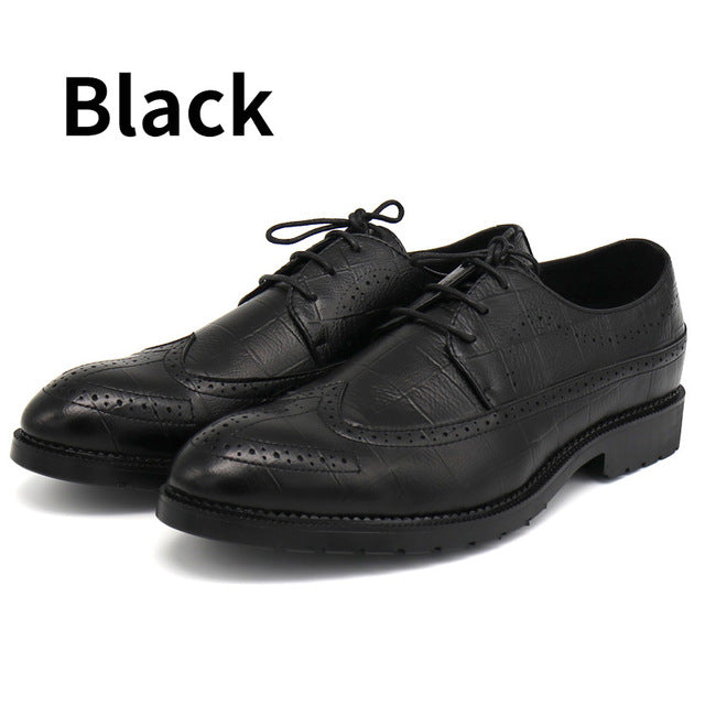 High Quality Men Oxfords Shoes British Style Formal Footwear Male Dress Shoes Pointed Toe Black Brown Brogue Shoes