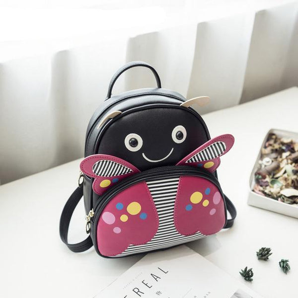 Mini Small Backpacks For Teenage Girls Bunny Cute Backpack Women Leather Polka Dot Bow Back Bag Pink Mochila Feminina FI