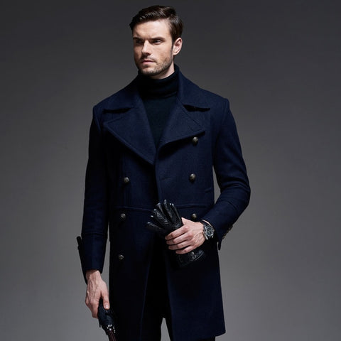 Winter Wool Coat Europe Brand Quality Cashmere Woolen Jacket Male Military Coats Free Shipping Men Tops
