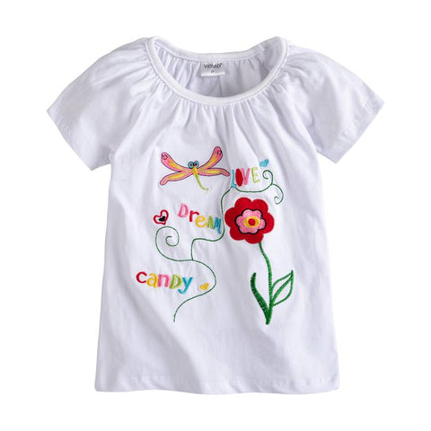 fa4c9764 Baby Girl t-shirt big Girls tees t shirts children blouse t-shirts super