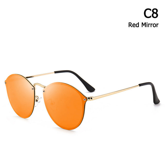 Sunglasses Vintage Retro Brand Design Color Mirror Sun Glasses Women Oculos De Sol