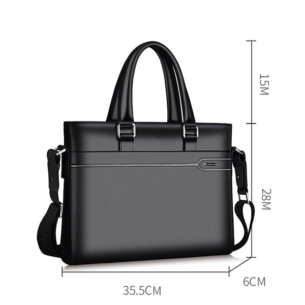 Business Briefcase Men Genuine Leather Handbag Work Shoulder Messenger Bags Top Quality Real Leather Crossbody Bag