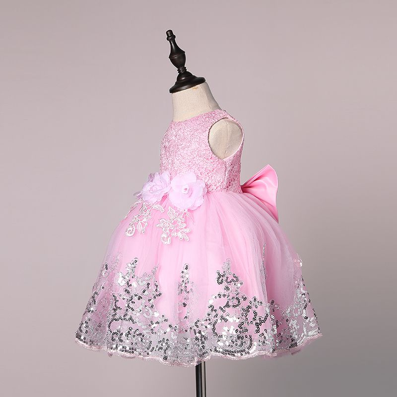 New Sequin Baby Girl Dress 12M-24M 1 Years Baby Girls Birthday Dresses Vestido 3 Colors birthday party princess dress