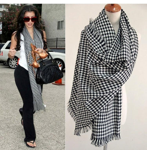 Luxury Brand Scarf for Women plaid bufandas mujer black Houndstooth warm scarf women winter scarves shawls Blanket Scarf