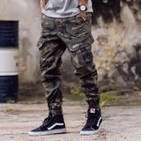 European American Fashion Streetwear Mens Jeans Jogger Pants Youth Fashion Summer Ankle Banded Pants Brand Boot Cut Jeans Pants