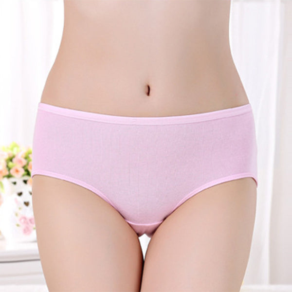 Anti Bacterial 95% Cotton Solid Sexy Briefs Women Underwear Natural Color Comfortable Women Briefs  224