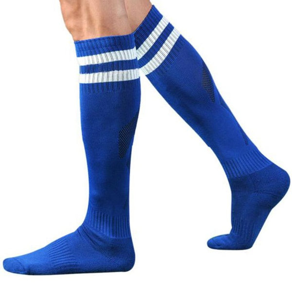 Winter Socks Men Long Socks Striped High Cotton and Spandex Over The Knee Sock Hosiery Meias Homens #OR