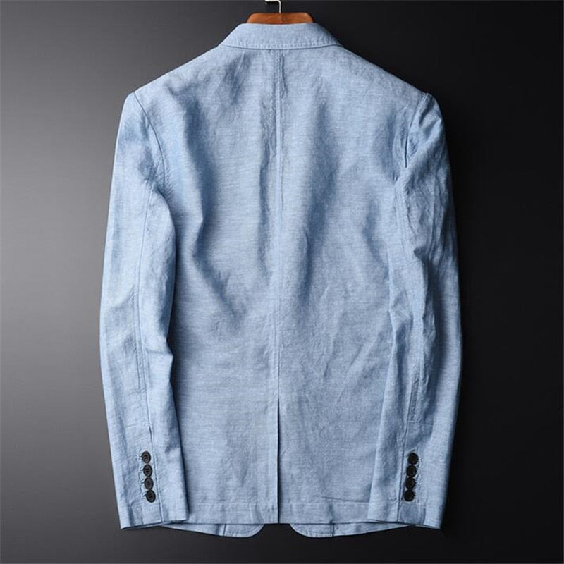 Summer New Casual Blazer Men Fashion Basic Blazer Slim Fit Blue Jacket Brand Blazer Coat Button Suit Men Jacket For Male
