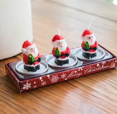 Holiday items Christmas cartoon candle creative holiday party decorations santa gift gifts