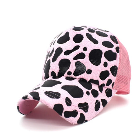 Leopard Caps Women Summer Sun Hats Mesh Baseball Cap Casquette Hip Hop Cap Hat Men Women