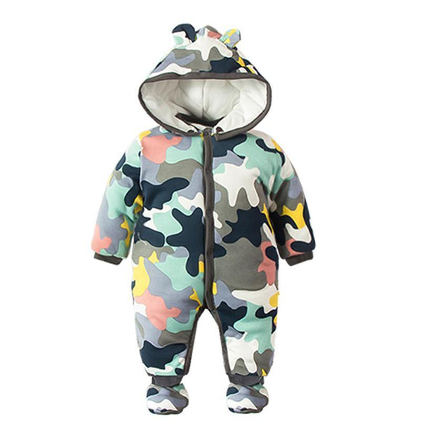 cd8c20862 NEW Baby Rompers Winter Thick Warm Baby boy Clothing Camo Long ...