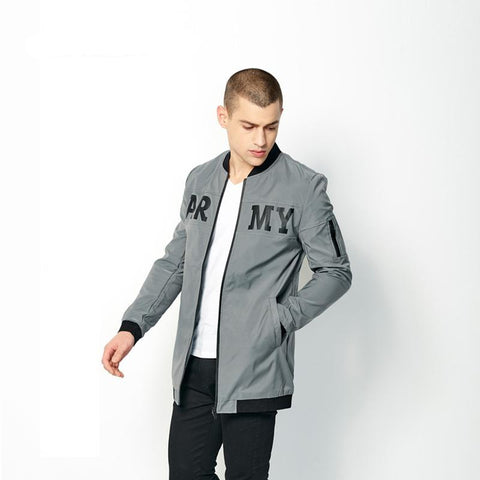 Mens Autumn Trench Coat Male Gray Slim Fit Long Jacket Coats Fashion Men Stand Collar Thin Overcoat High Quality 99083