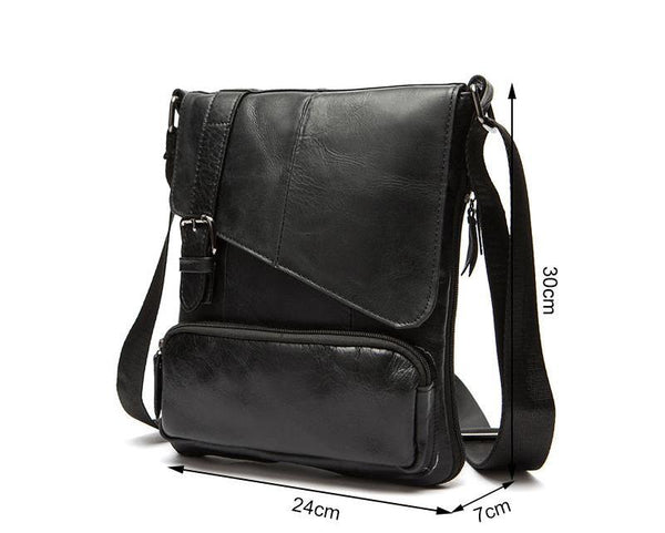 Genuine Leather Men Messenger Bag Man Crossbody Shoulder Handbag Cowhide Leather Men Bags Male Casual Bag 8239