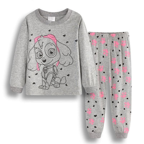 Baby Girls Pajamas Suits 2 3 4 5 6 7 years Children Clothes Sets Girl Clothes sets T-Shirts Pant Sleepwear 100% Cotton