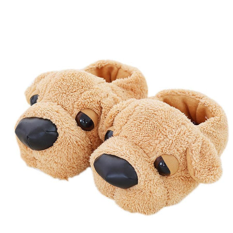 7e7f936c2ee90 Women Anime Cartoon Dog Slippers Lovers Warm Indoor Woman Slippers Plush Shoes  Girl Home Pantufas House