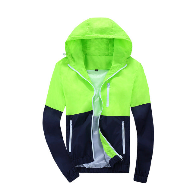 Jacket Men Windbreaker Spring Autumn Fashion Jacket Men's Hooded Casual Jackets Male Coat Thin Men Coat Outwear