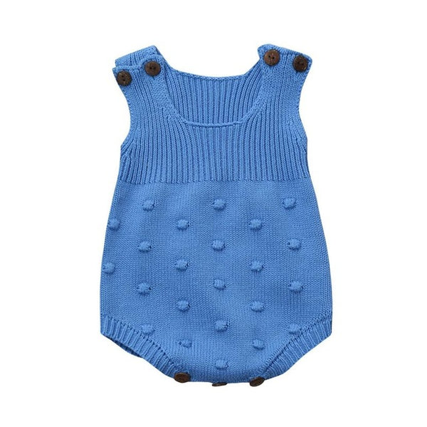 2018 Lovely Newborn Baby Girls Knitted Sleeveless Toddler Strap Jumpsuit Clothes Romper Outfit knitted romper baby boy Clothes