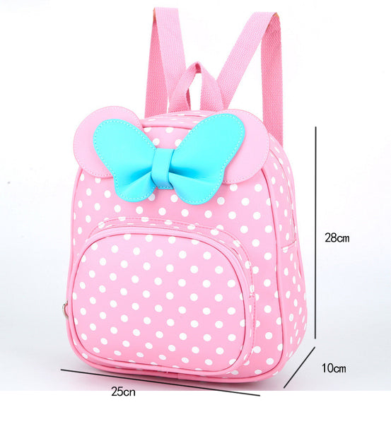 Children Bags for girls Kindergarten Children School Bags Cartoon bow tie Baby Girl School Backpack Cute Children Backpack
