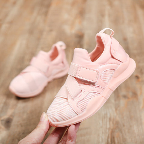 Autumn Spring New Fashion Kids Sneaker  Baby Boys Girls Shoes Relaxation Ventilate Pure Color Children Tennis Shoes bj17106