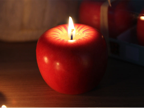 classic birthday party wedding candles supplies decorative aromatherapy arts red apple candle christmas day toy romantic gift