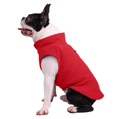 Pet Clothes Cold Weather Fleece Dog Vest for Small Dogs Winter Warm Pet Puppy Coat Doggy Outfit O Ring Attached for Walking