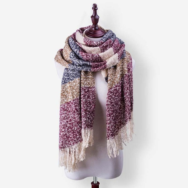 New Brand Winter Scarf For Women Scarf Female Fashion Scarves Warm Soft Bufandas Warm Plaid Shawl High Quality
