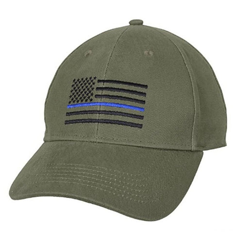 American Flag Thin Blue Line Flag Low Profile Tactical Hats For Police Law Enforcement Back the Blue Embroidered Cap