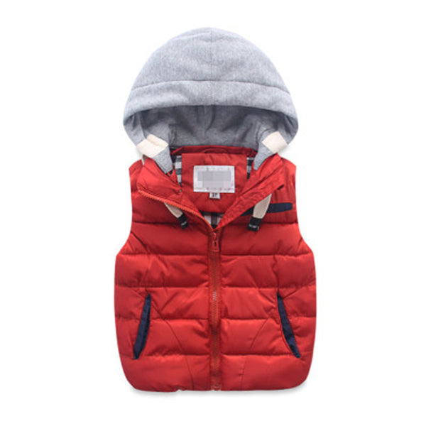 children warm vest kids cotton-padded thicken waistcoat kids outwears vest boy&girls jacket baby clothes children clothing
