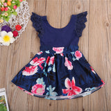 Family Matching Clothes Baby Girls Dresses Summer Matching Mom Daughter Floral Dress Family Look Mom And Daughter Vestido