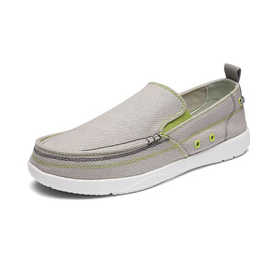 UPUPER Canvas Shoes Men, Ultralight Breathable Casual Men Shoes ,Spring Summer Comfortable Loafers Lazy Driving Flats Men Shoes