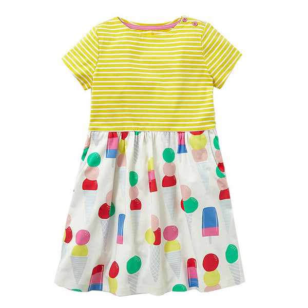 Girls Summer Dress Baby Girl Clothes Vestidos 2018 Brand Kids Dresses for Girls Costume Animal Flower Children Princess Clothing