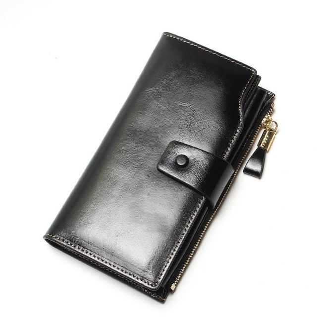 c740e4fc431a New Design Fashion Multifunctional Purse Genuine Leather Wallet Women Long  Style Cowhide Purse Wholesale And Retail Bag