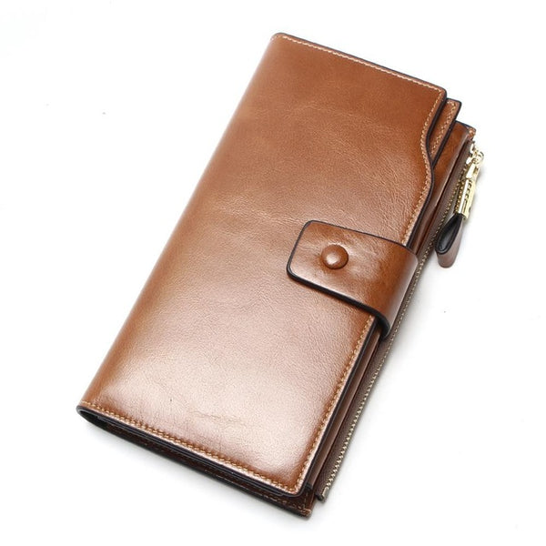 New Design Fashion Multifunctional Purse Genuine Leather Wallet Women Long Style Cowhide Purse Wholesale And Retail Bag