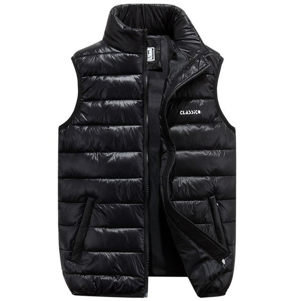 new arrivals fashion men winter vest coat light weight hooded collar male outerwears M-5XL AXP14