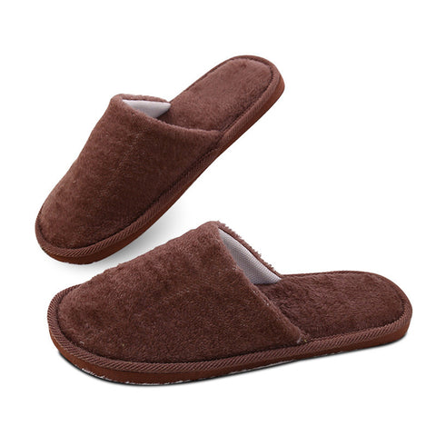 Slippers men cheap shoes classic short plush faux fur male indoor adult slippers solid blue/gray/brown shoes