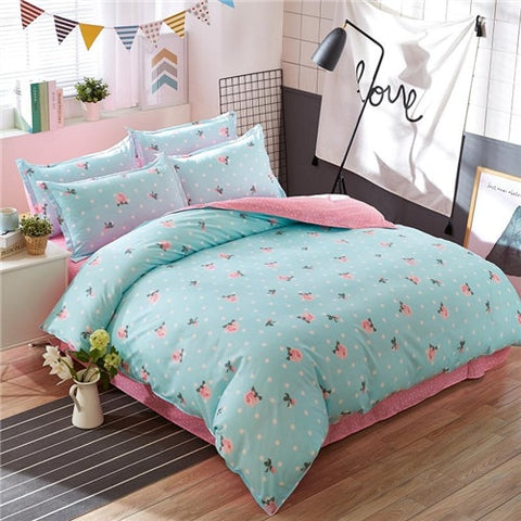 New sheet, pillowcase duvet cover set WHALE bedding set pinetree bed set black white bed linen set wholesale home bedding