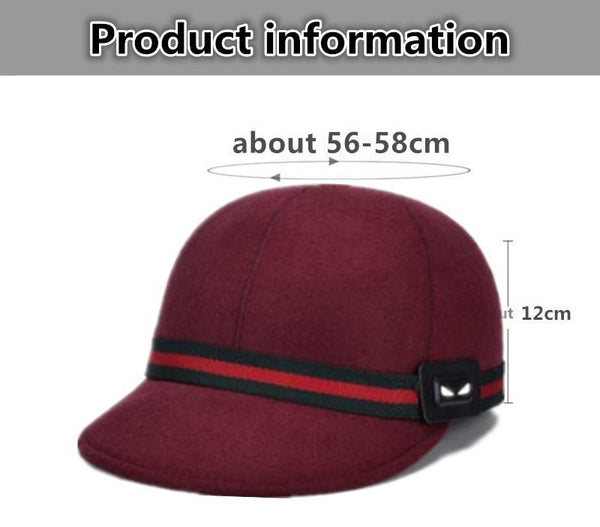 Women's Warm Hat Autumn And Winter Retro Baseball Caps Woolen Hats Casual Cute Fashion Felt Cap 2017 New Style Female Winter Hat