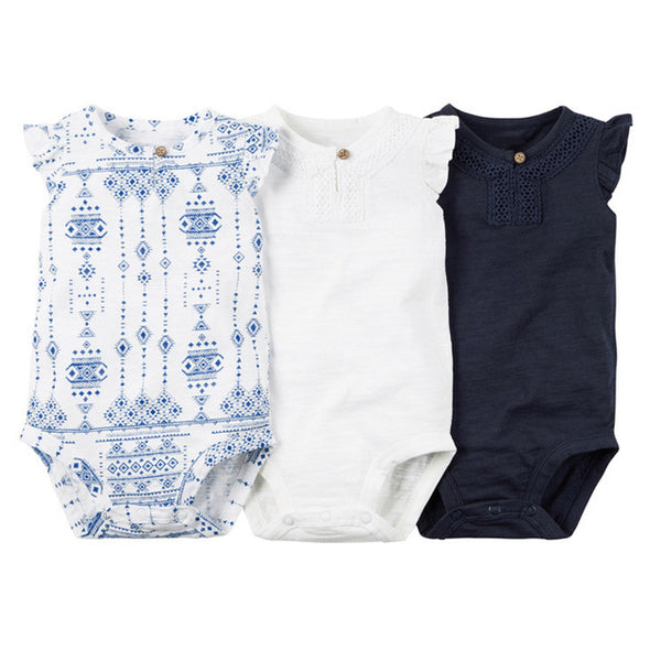 3pcs of set .kids bebes  baby boy girl clothes set kids bebes bodysuit summer clothing set 2018 new model