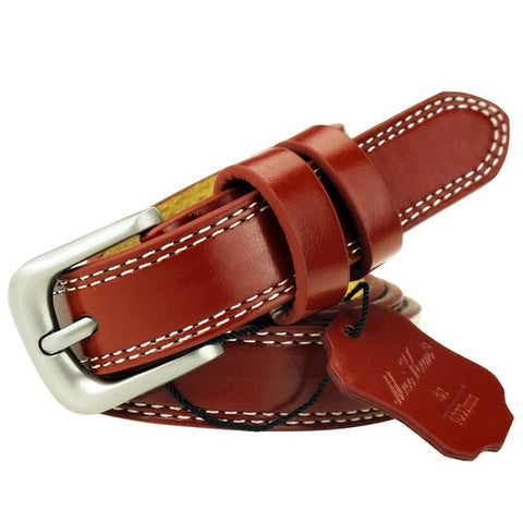 Top Quality Cowskin Leather Belts for Women Cummerbund Luxury Female Belt Decorative Simple Waist Belt Candy Color