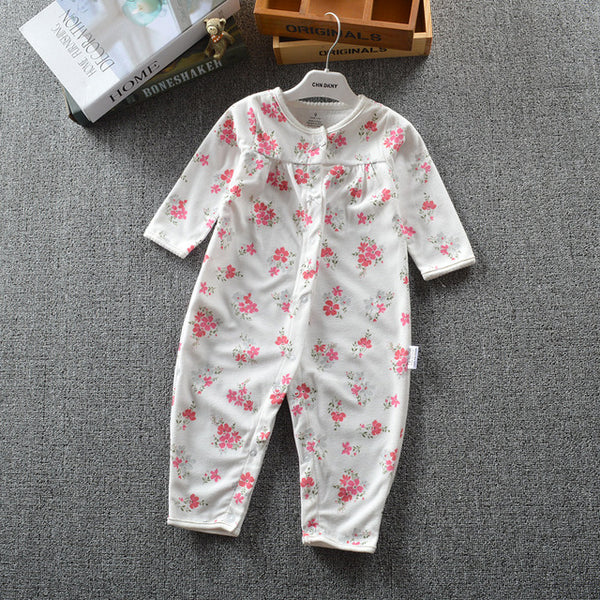 2018 Baby clothes bebes jumpsuit collar fleece newborn pajamas infants baby boys clothes toddler boys clothes coveralls outwear