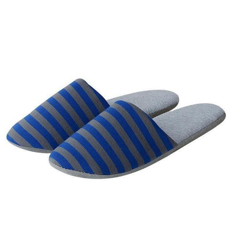 Men Portable Folding Slippers Home Business Travel Portable Folding Slippers Loves Men Stripes Slippers 29cm
