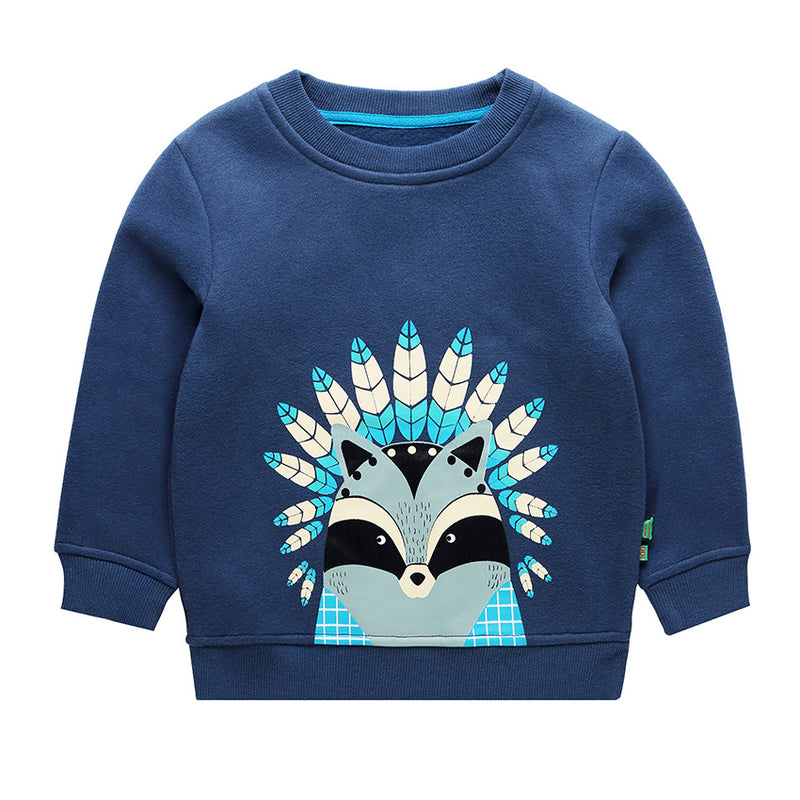 Winter Warm Hoodies For Children Plus Velvet Sweatshirts For Baby Boys Warm Outerwear Clothes For Kids Winter Coats