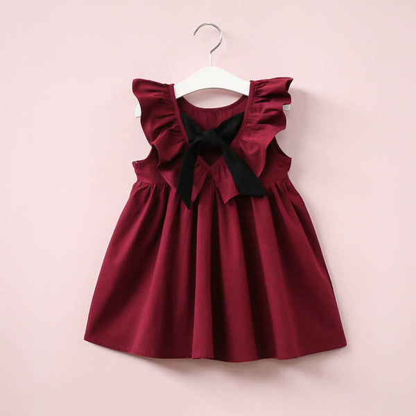 Baby Girls Dress Infant Princess Dresses For Girl With Bow Cute Backless Children Clothing Fashion Casual Summer Kids Vestidos on Johnkart.com