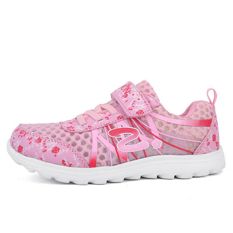 Spring Summer children breathable sneakers comfortable mesh girl sports shoes fashion casual boys shoes pink purple white