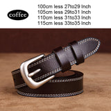 hotsales Women's strap brief plain belt all-match vintage cowhide decoration pin buckle jeans solid belt Genuine leather