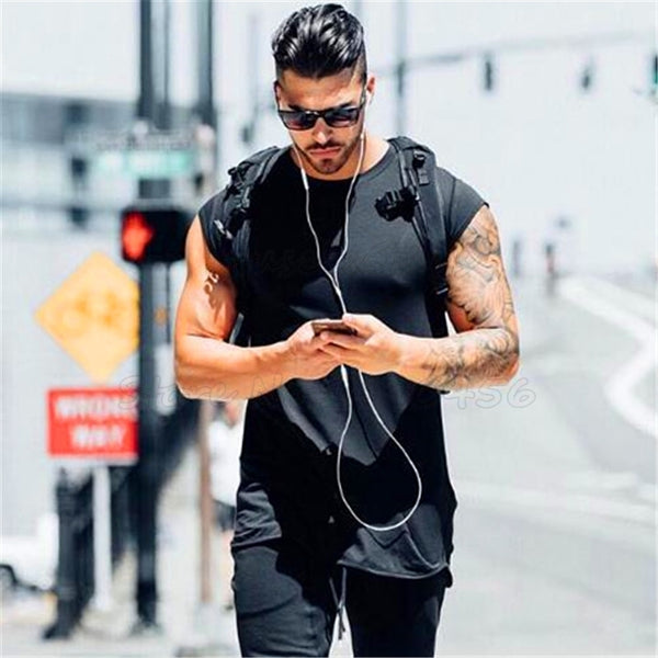 mens clothing fitness gyms t shirt men muscle guys bodybuilding short sleeve t-shirt male tee shirt homme Slim fit shirt