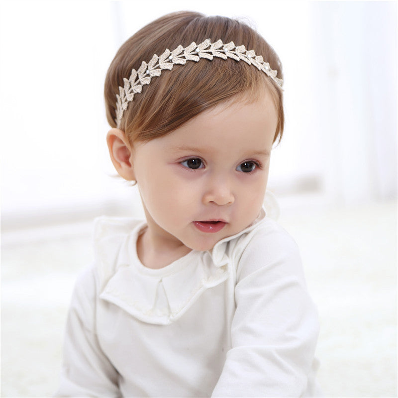 New Cute Golden Butterfly Leaves Hairbands Girls Headwear Children Headbands  Elastic Hair Bands Kids Hair Accessories ... ee17fe842bf8