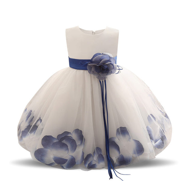 Children's Clothes 5 6 7 Years Birthday Party Girls Dress with Flowers Tulle Kids Princess Dresses Robe Fille Enfant Ball Gown